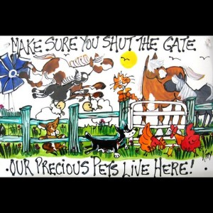 kitty's happy farm gate signs
